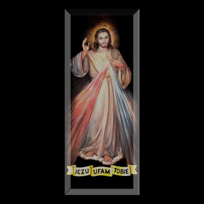 Jezus Miłosierny - wizerunek w krysztale