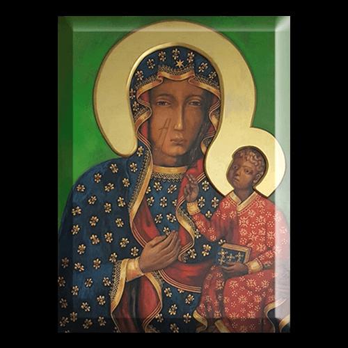 Matka Boska Jasnogórska - wizerunek w krysztale
